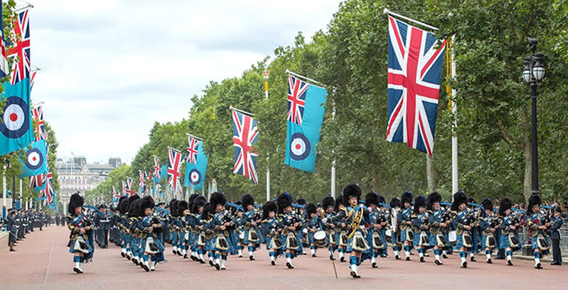 RAF Pipes and Drums - RAF 100